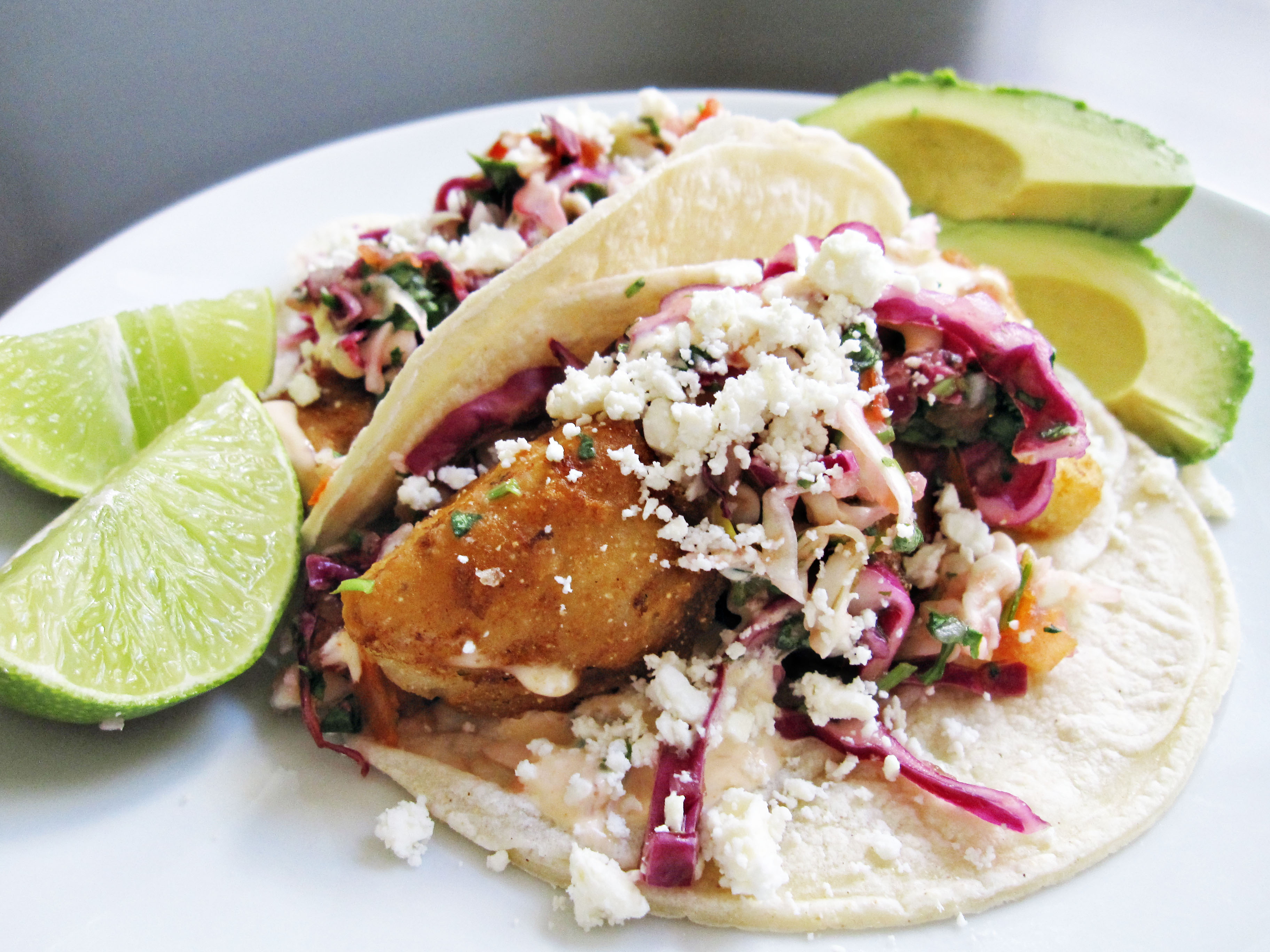 baja style tempura fish tacos recipe dishmaps