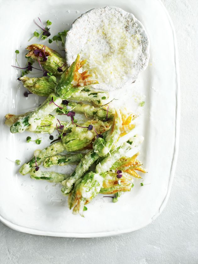 food drink  Ricotta Stuffed Squash Blossoms (& Friday Links)