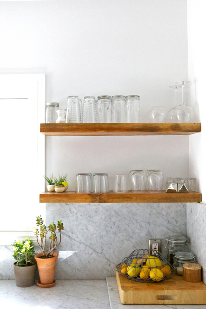 Open shelving in the kitchen how to make it work Open shelving
