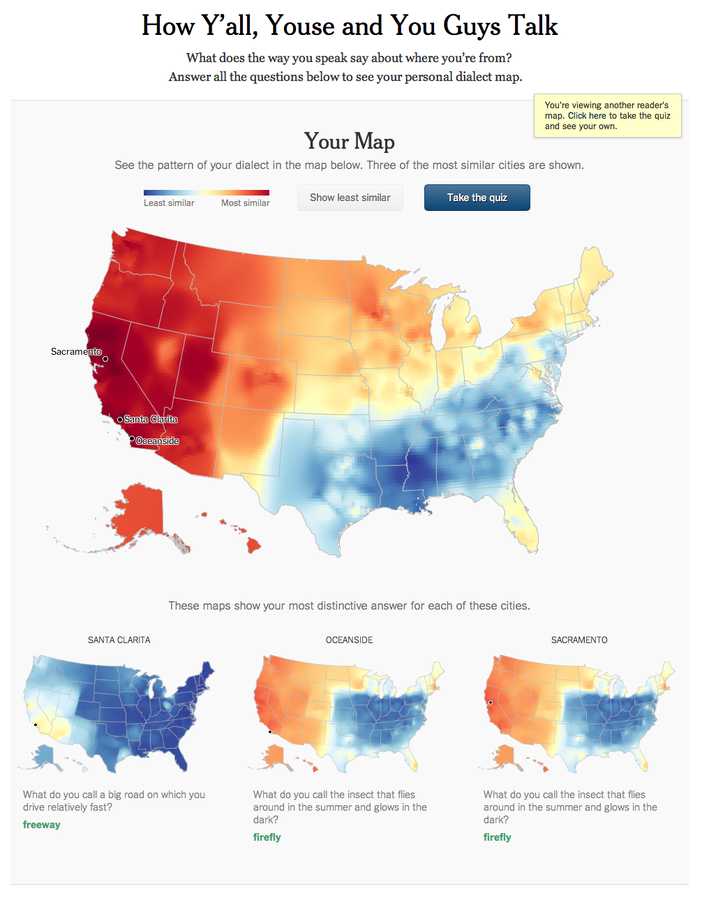 Your personal dialect map - Hither & Thither on